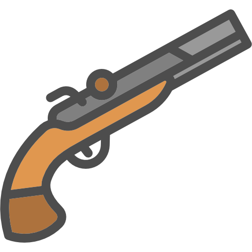 Musket vector pixel art. Free weapons icons icon