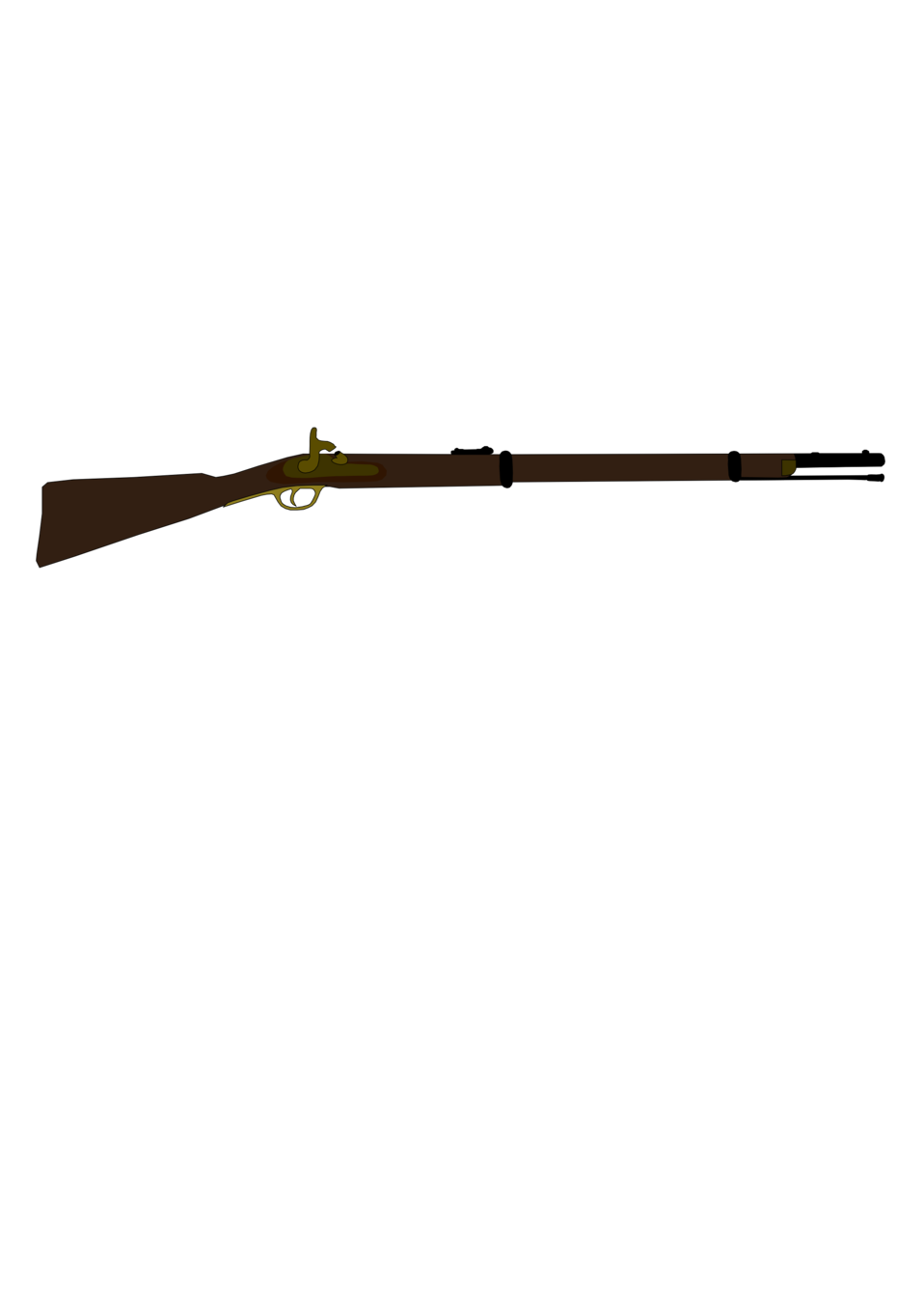 Musket vector used. Public domain clip art
