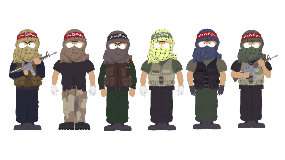 Muslim terrorist png. Terrorists official south park