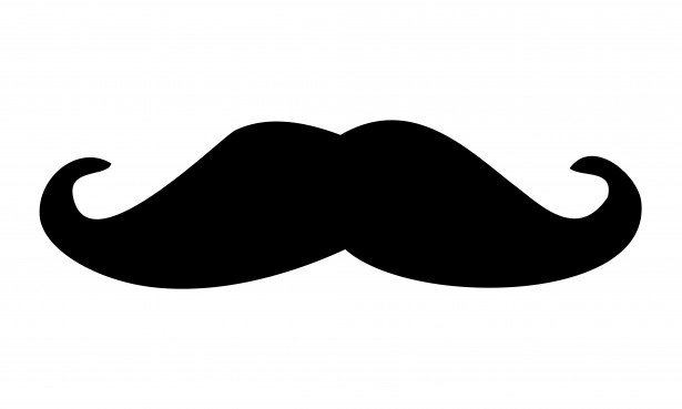 Mustache clipart. Black moustache free stock