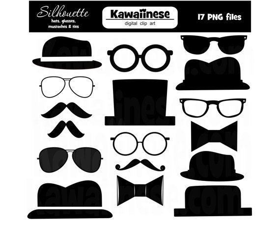 Mustache clipart bow tie. Father s day silhouette