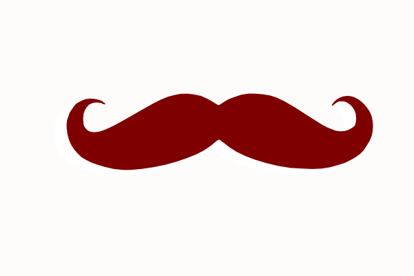 Mustache clipart brown. Clip art at clker
