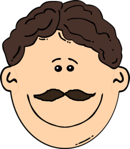 Mustache clipart brown. Boy with