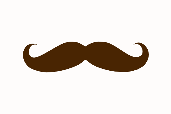 mustache clipart brown
