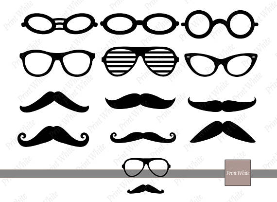 Mustache clipart eyewear. Svg png glasses