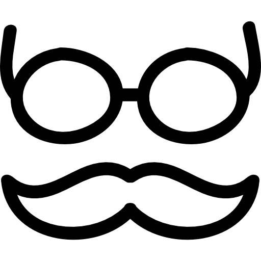 Mustache clipart eyewear. And glasses hand drawn