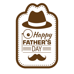 Mustache clipart fathers day. Father s badge label