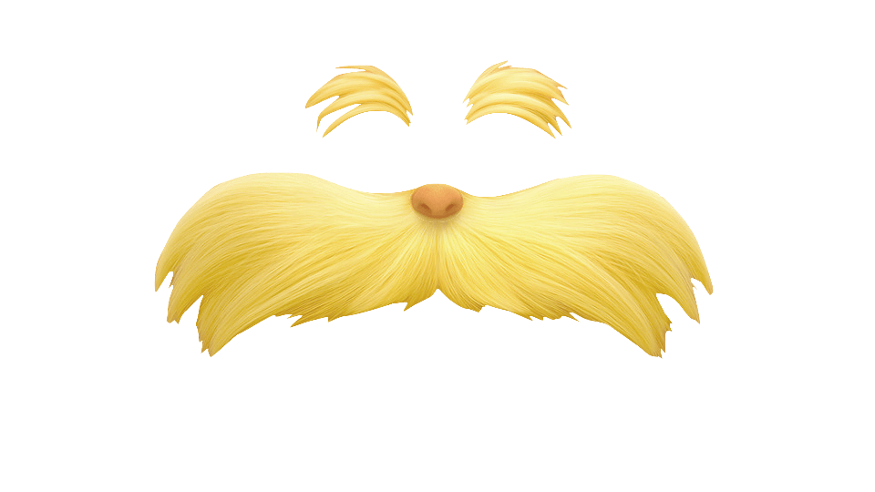 Mustache png yellow