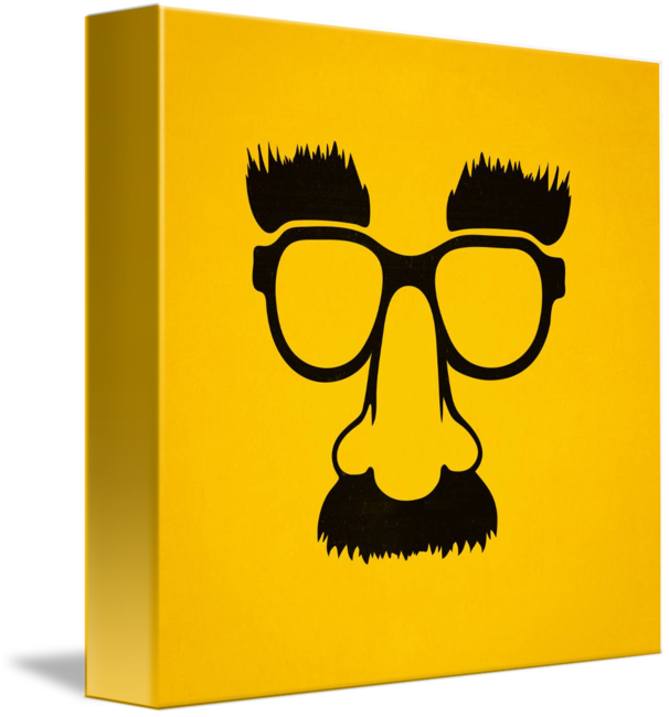 Mustache clipart nerd glass. Groucho mask glasses by