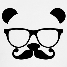 Mustache clipart nerd glass. Panda with glasses and
