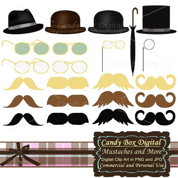 Mustache clipart old hat. Mens clip art with
