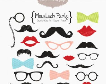 mustache clipart party prop