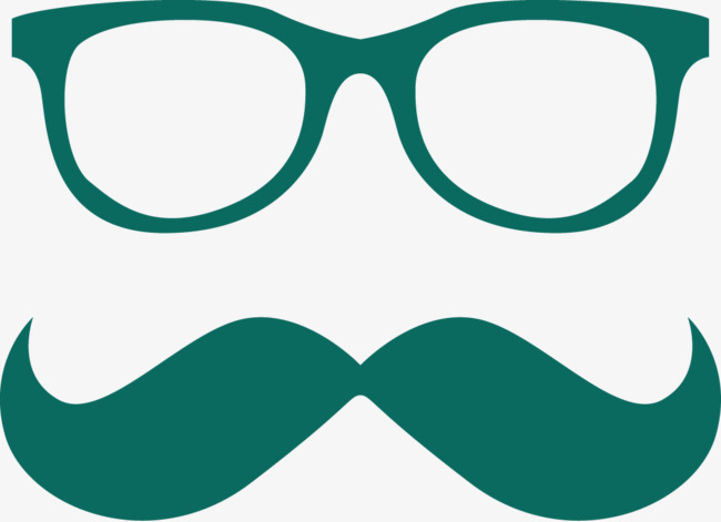 Mustache And Glasses Frame Vector