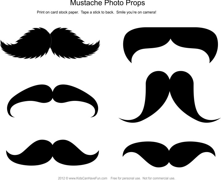 Mustache dad png. Photo booth props diy