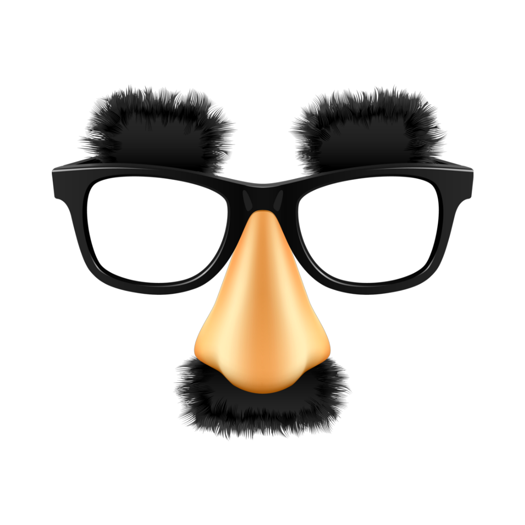 Mustache glasses png. Nose mask funny