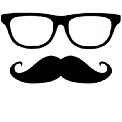 Mustache glasses png. Roblox