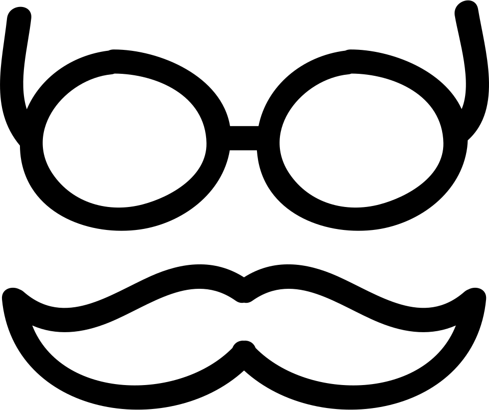 Mustache glasses png. And hand drawn outlines