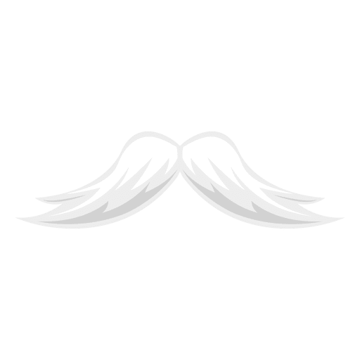 Transparent feathers hipster. White mustache png svg