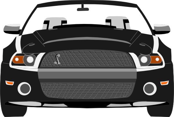 Mustang clipart. Black and white ford