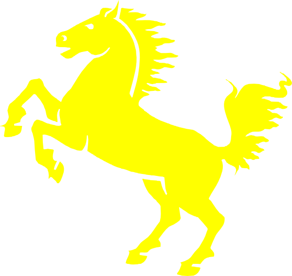 Mustang clipart. Free yellow cliparts download