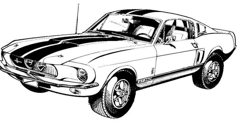 Mustang clipart. Red