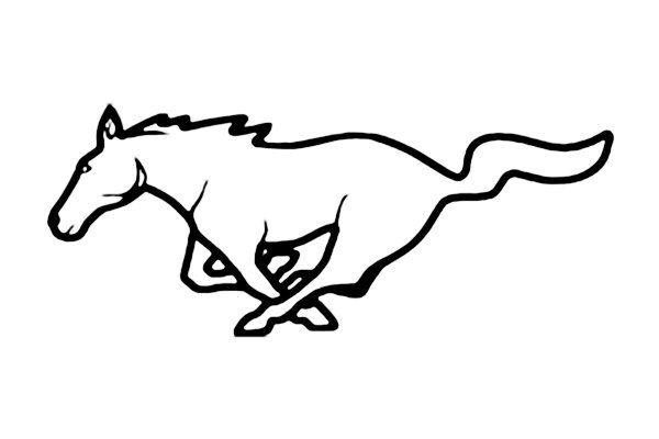 Mustang clipart ford mustang. Google search silhouette pinterest