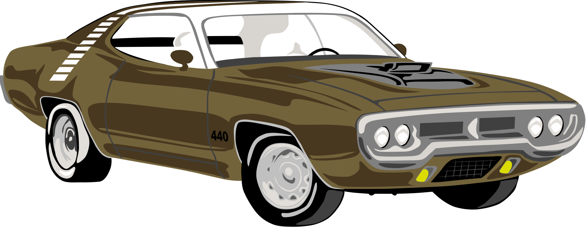 Muscle cars png file black and white. Car clipart image group