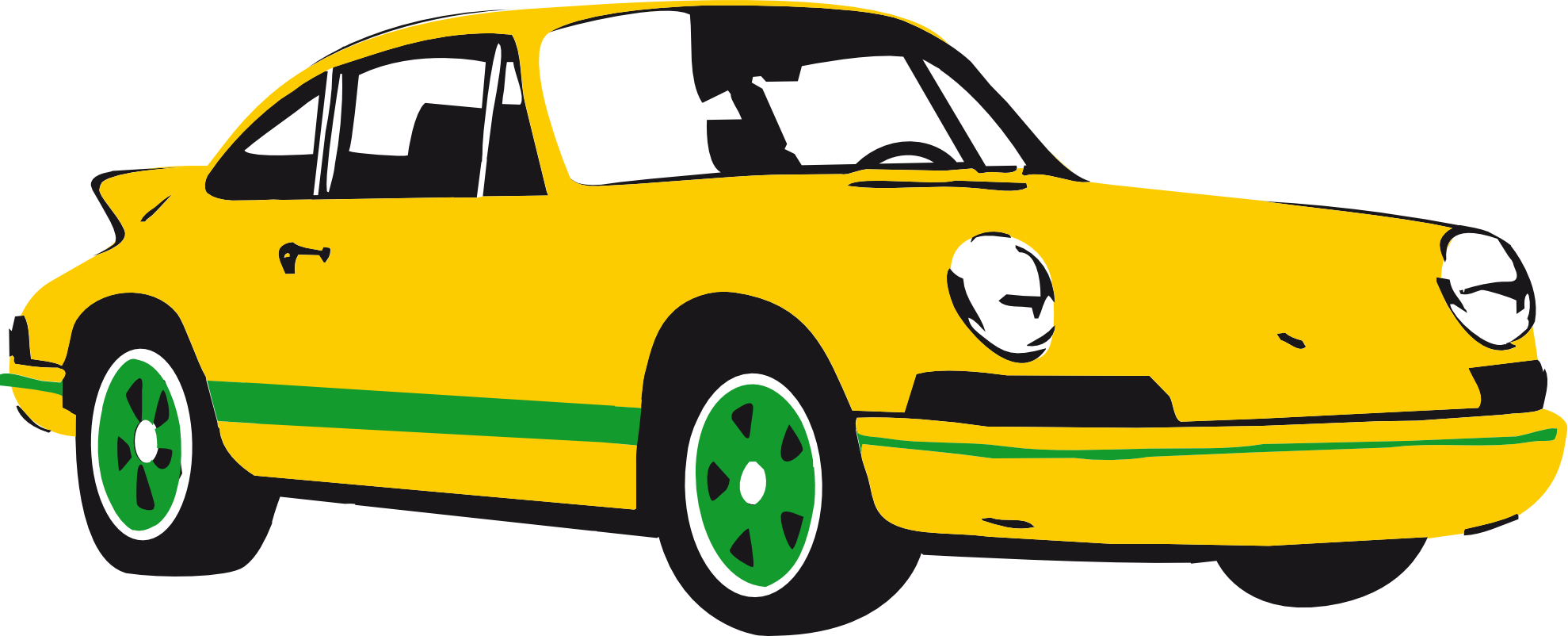 Cars vector png. Front side of porsche