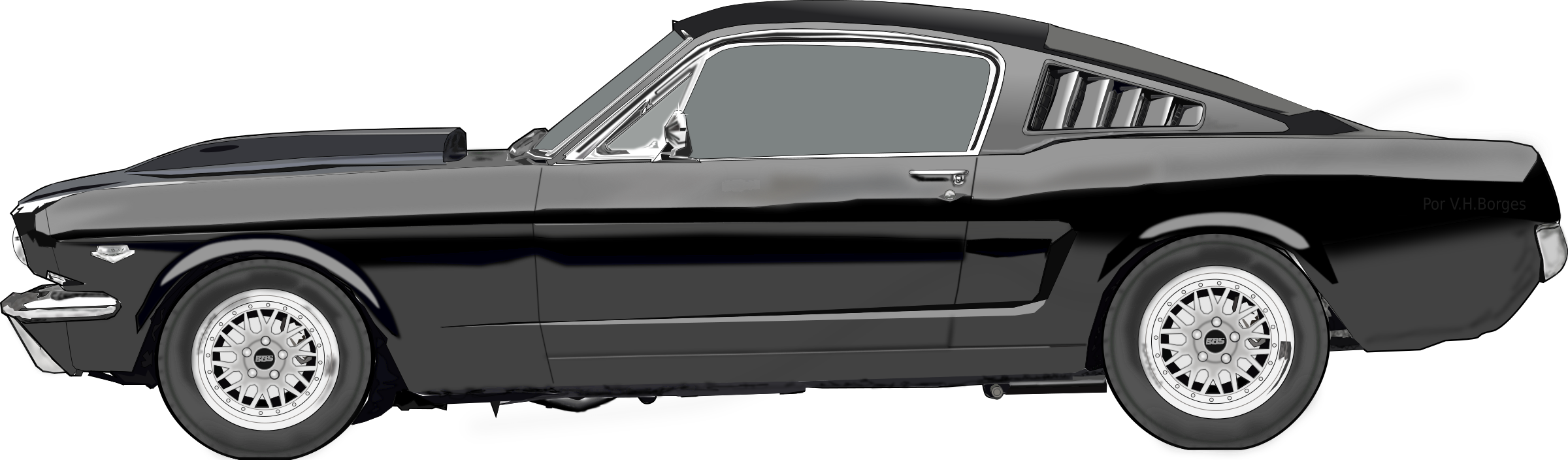 Muscle cars png file black and white. Clipart ford mustang big