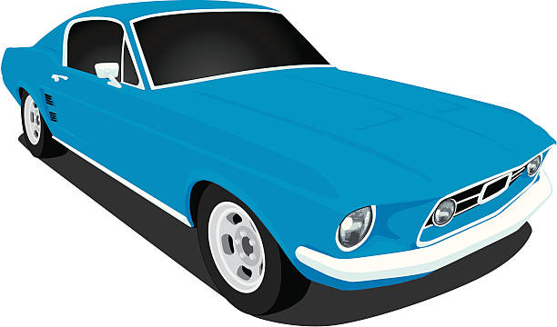 mustang clipart side