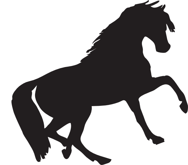 Mustang clipart svg. Silhouette clip art at