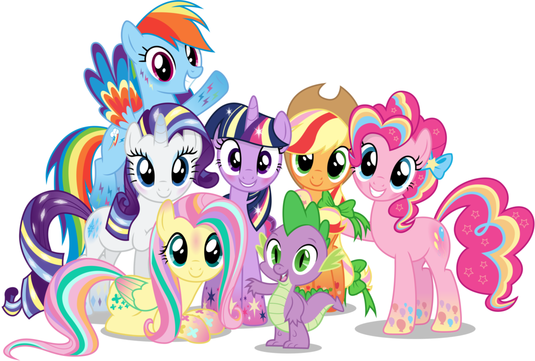 My little clipart. Pony group