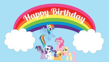 My little clipart birthday. Pin the tail on