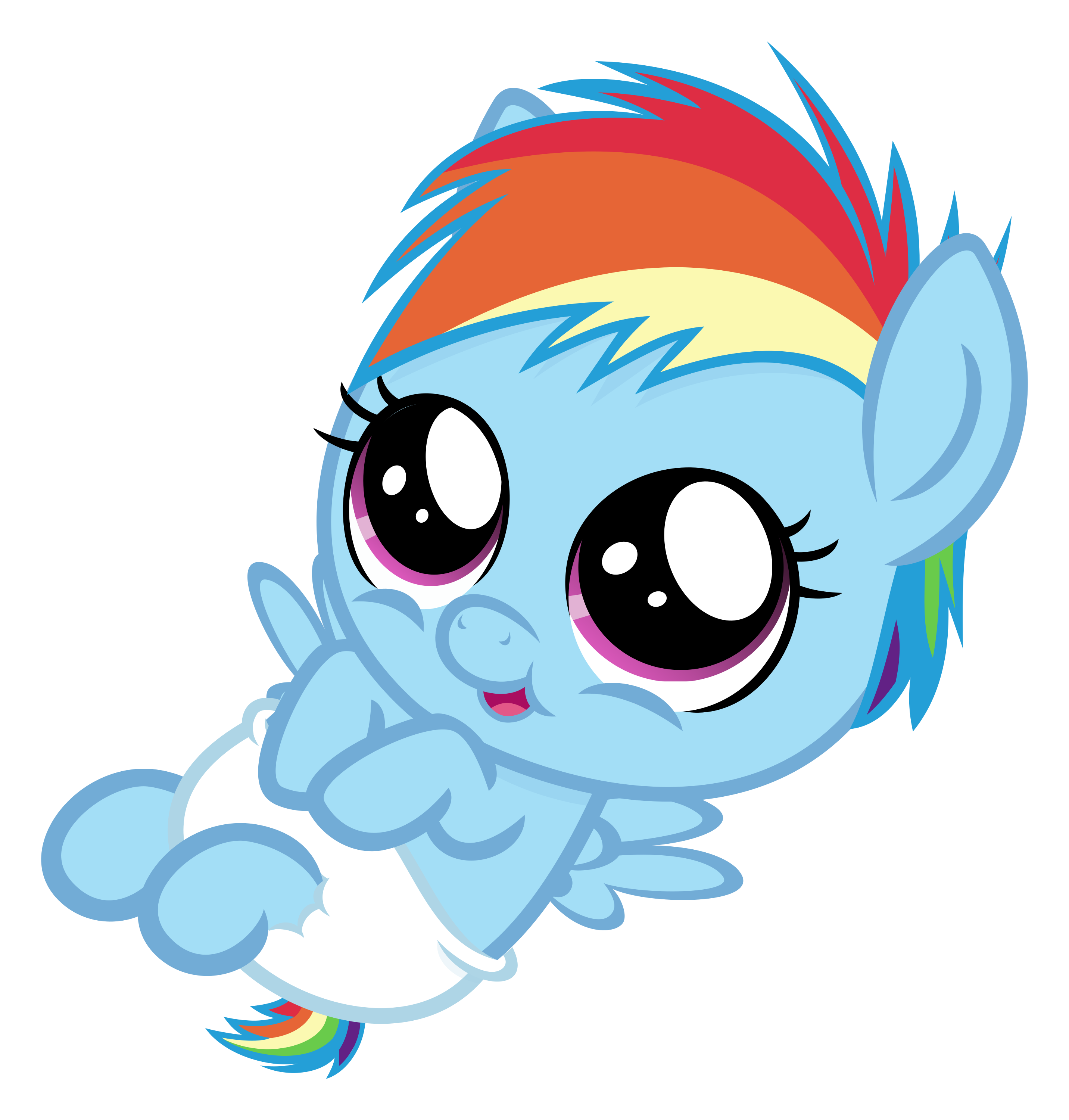 My little clipart mlp. Baby dashie by comeha