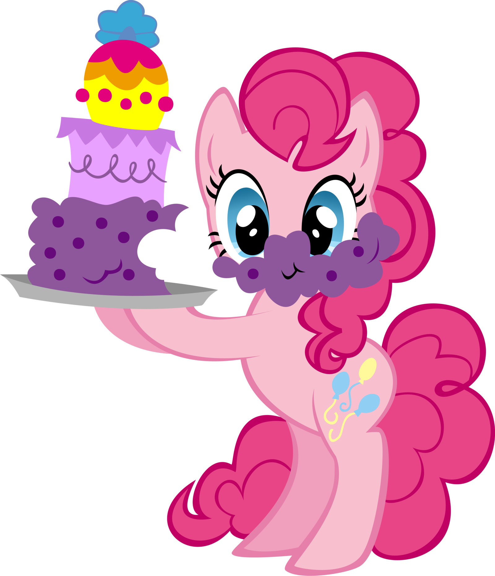 My little clipart pinkie pie. With cake by ernestboy