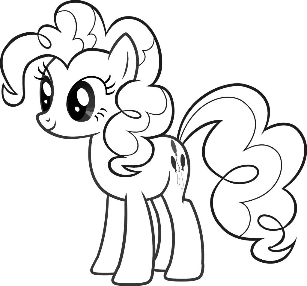 My little clipart pony clipart. Outline with crafts