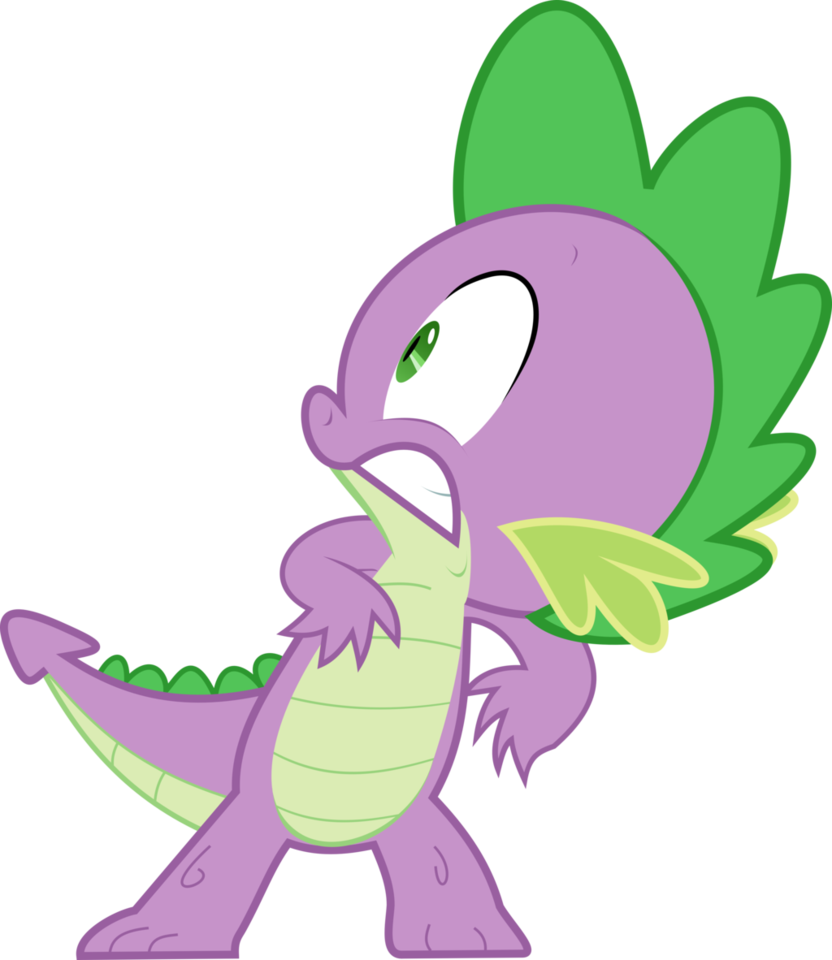 My little clipart spike. Paranoid pony friendship is