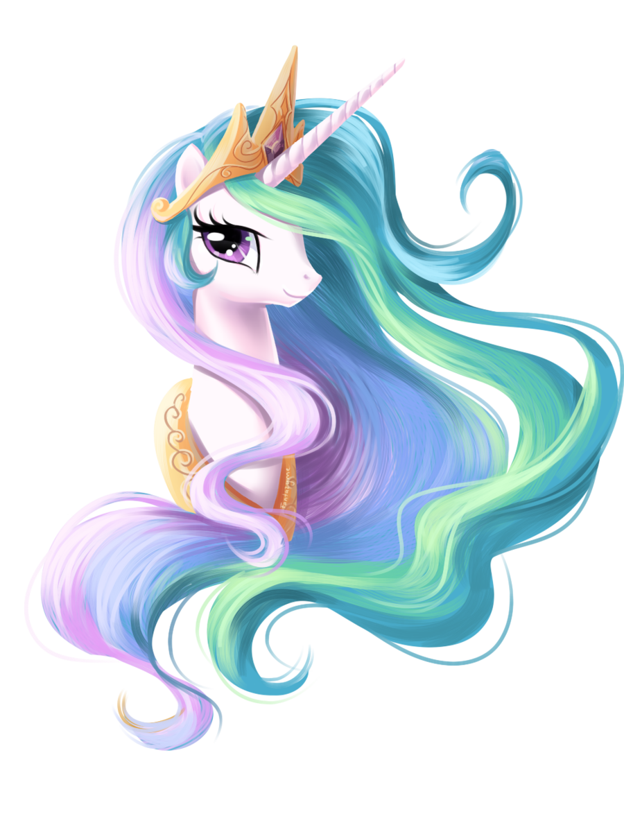 Elegant drawing unicorn