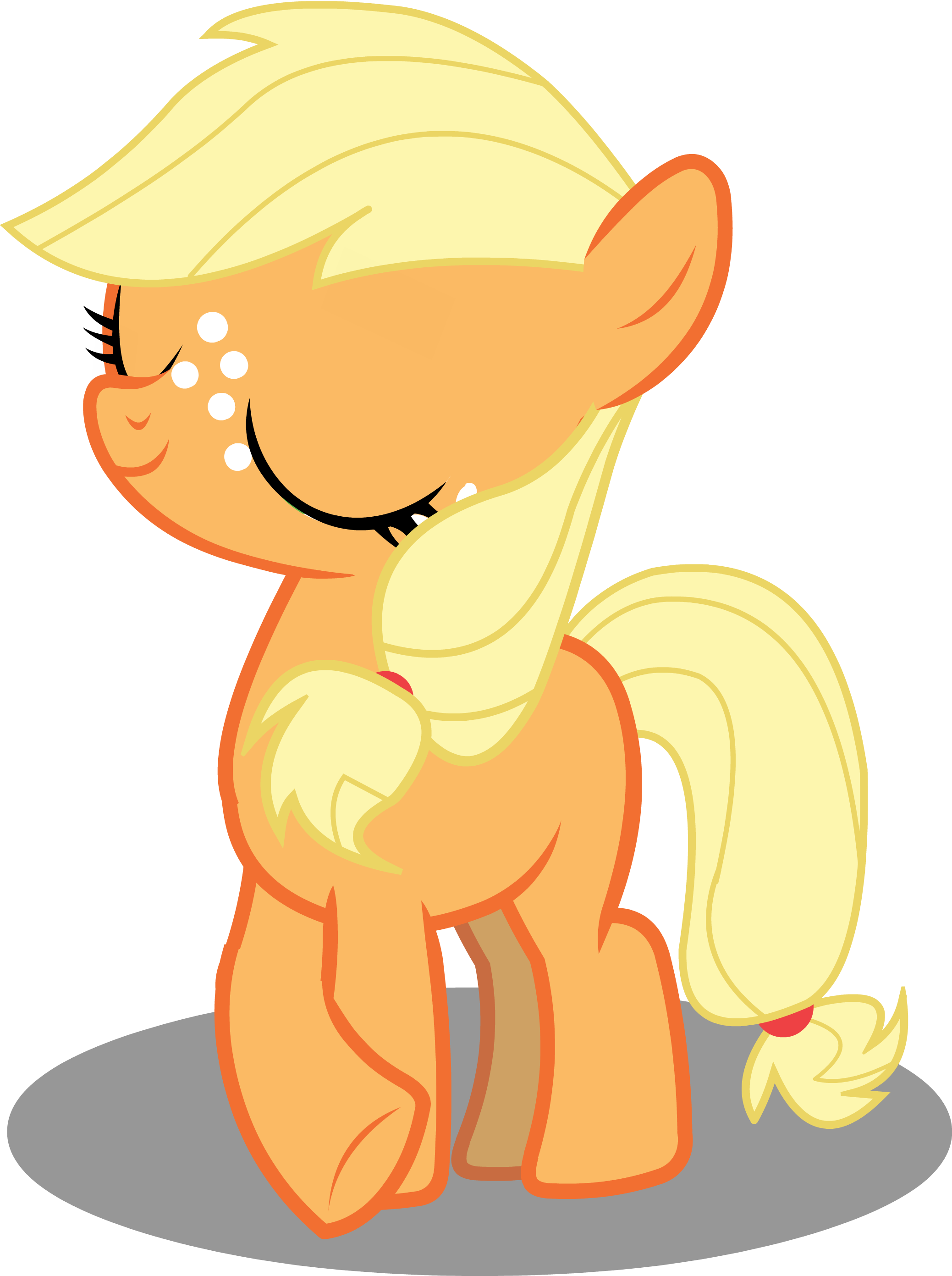 Applejack drawing pony horse. Mlp filly being ladylike