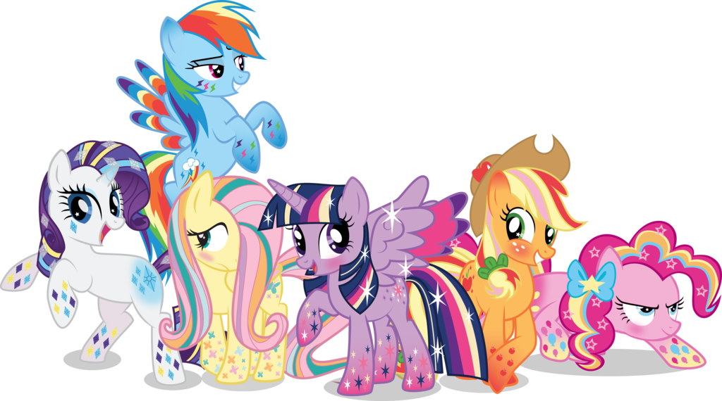 My little pony friendship is magic png. Rainbow power ponies by