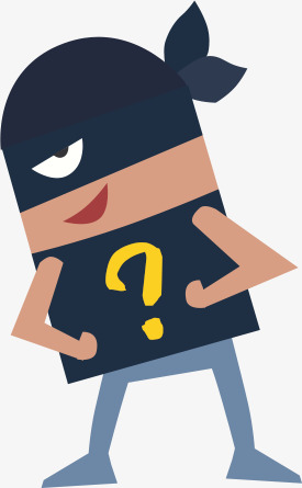 Mystery clipart cartoon. Image of the mysterious