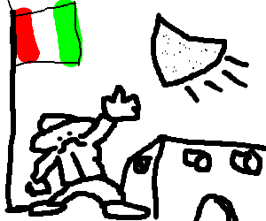 Nacho clipart drawing. Mexican man trying to