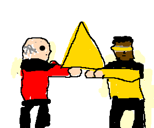 Nacho clipart drawing. Picard and gordie laforge
