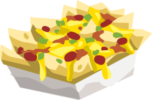 Nachos drawing lunch. Hungry clip art at