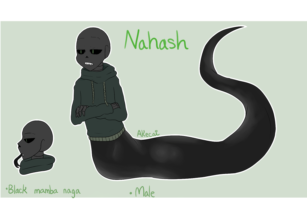 Naga drawing black mamba. Nahash by kaiskelyx on