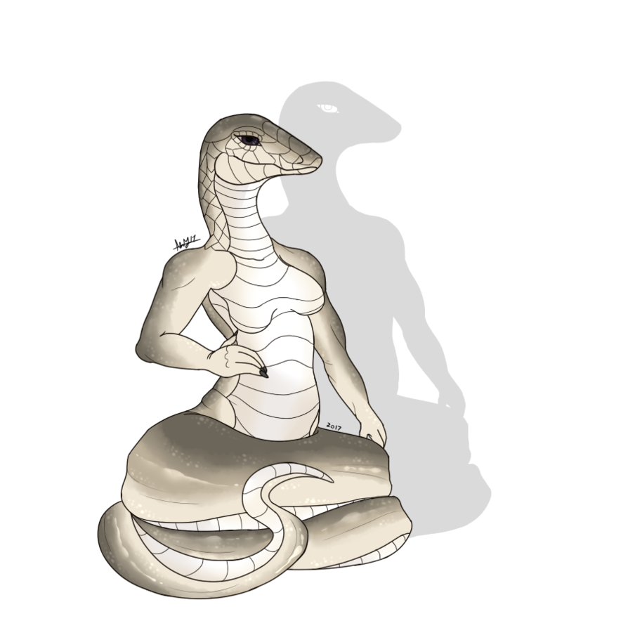 Naga drawing black mamba. Cleo the by sinister