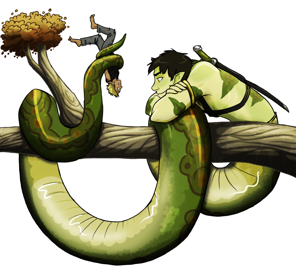 Naga drawing humanoid. Ych pocketfrogs by mistress