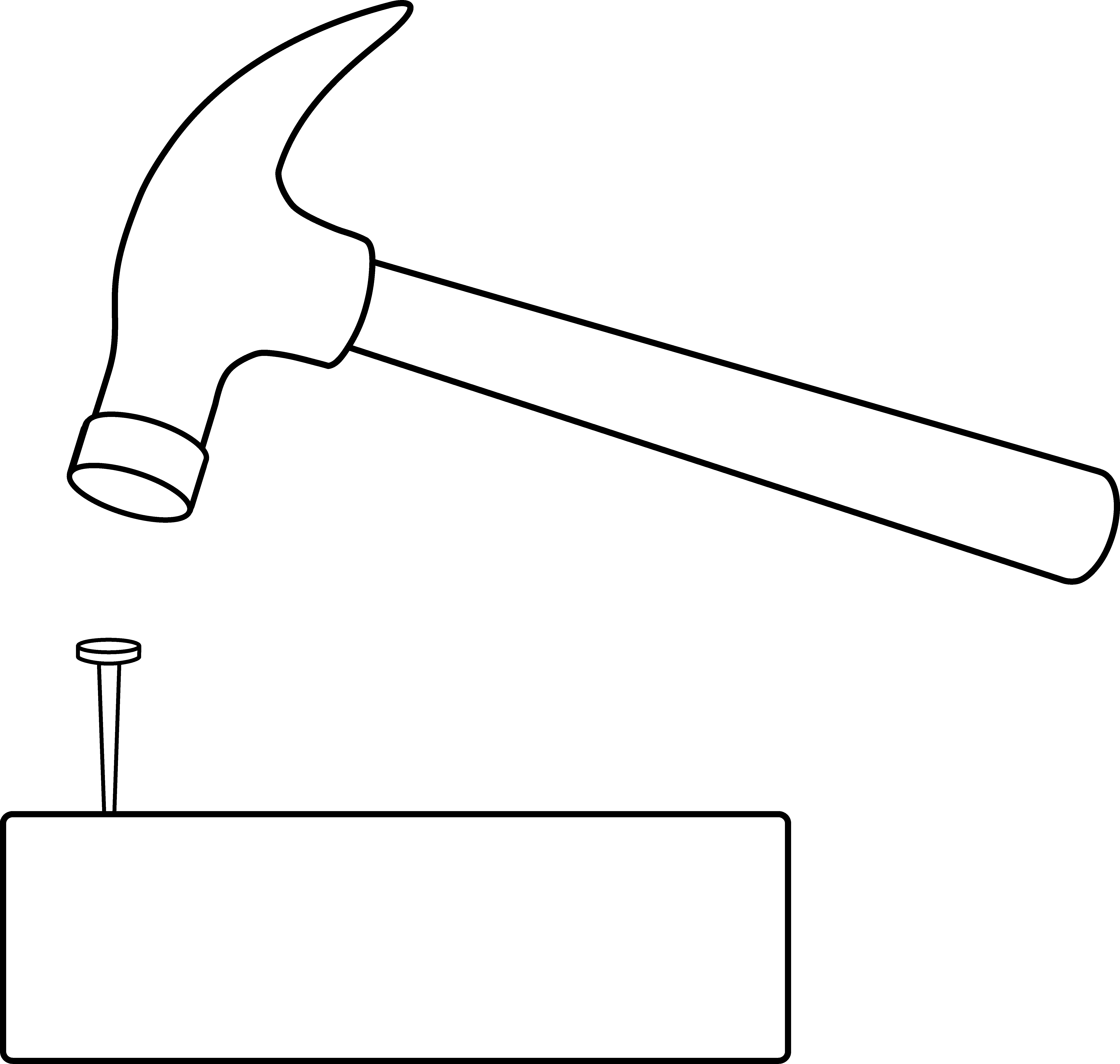 Nail clipart claw hammer. And outline free clip