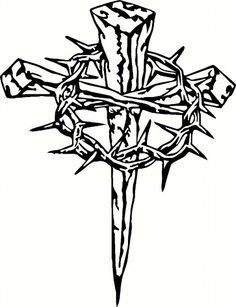 Nail clipart crucifix. Three nails cross with