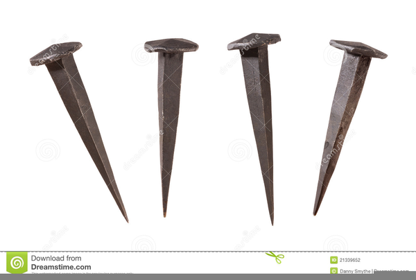 Nail clipart large iron. Antique free images at
